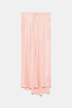 SATIN SKIRT - View All-SKIRTS-WOMAN | ZARA United States peach