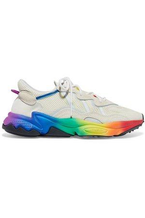 adidas Originals | Ozweego Pride suede-trimmed mesh sneakers | NET-A-PORTER.COM