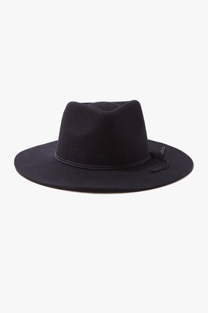 Wide-Brim Brushed Fedora | Forever 21