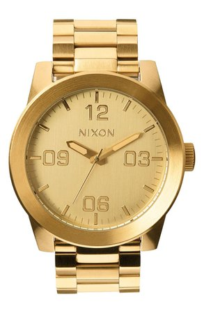 Nixon The Corporal Bracelet Watch, 48mm | Nordstrom