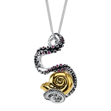 Ursula Shell & Tentacle Necklace