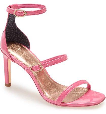 Ted Baker London Triap Strappy Square Toe Sandal (Women) | Nordstrom