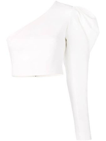 David Koma one shoulder gigot cropped blouse $743 - Buy Online - Mobile Friendly, Fast Delivery, Price