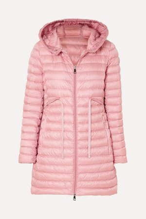 Hooded Quilted Shell Down Jacket - Pink