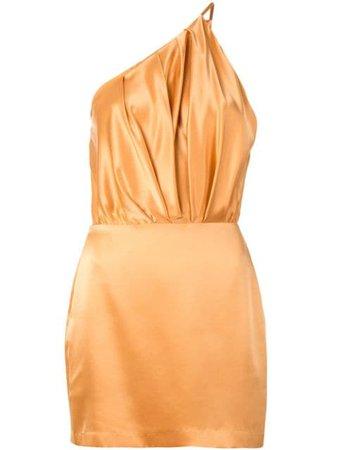 Peach silk dress - Farfetch