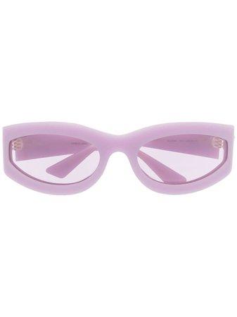 Bottega Veneta Eyewear Tonade Solglasögon Med Ovala Bågar - Farfetch