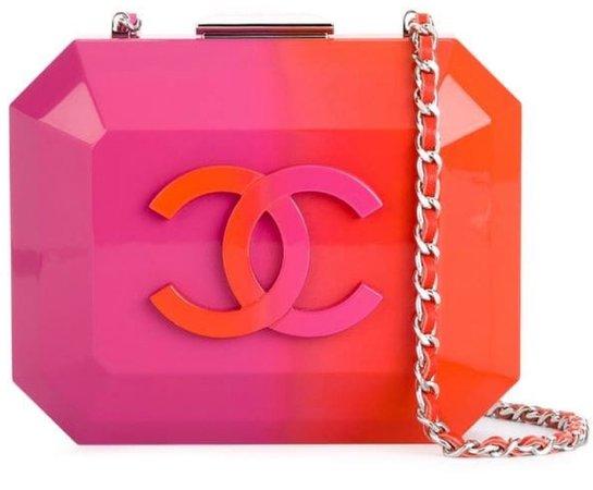 pink/orange cc clutch bag