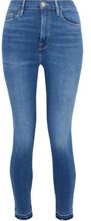 Ali Distressed High-rise Skinny Jeans