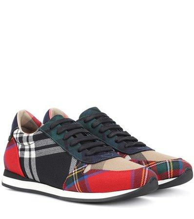 Amelia tartan wool sneakers