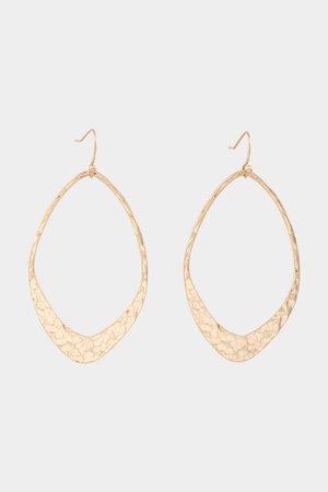 Adi Hammered Metal Teardrop Earrings in Gold | francesca's