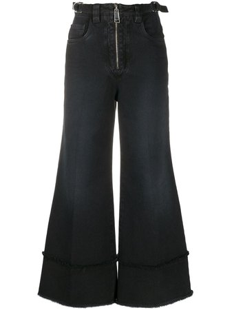 Miu Miu Cropped Wide Leg Jeans - Farfetch