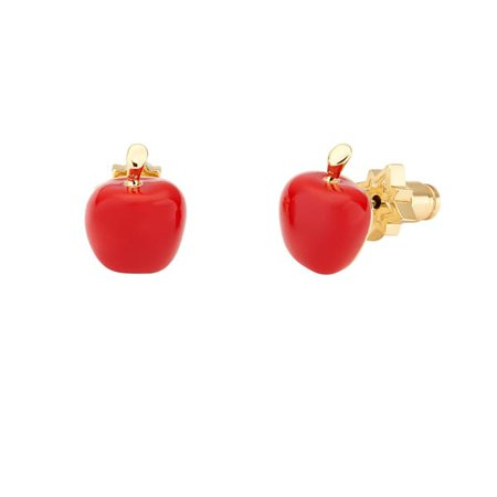Apple Stud Earring Red   All We Are   Wolf & Badger