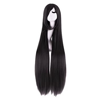 """Amazon.com: MapofBeauty 40"""" 100cm Anime Costume Long Straight Cosplay Wig Party Wig (Light Pink): Beauty"""