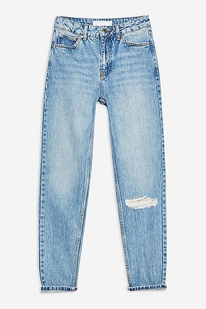 Bleach Willow Rip Mom Jeans - Mom Jeans - Jeans - Topshop Europe
