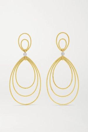 Gold Hawaii 18-karat yellow and white gold diamond earrings   Buccellati   NET-A-PORTER