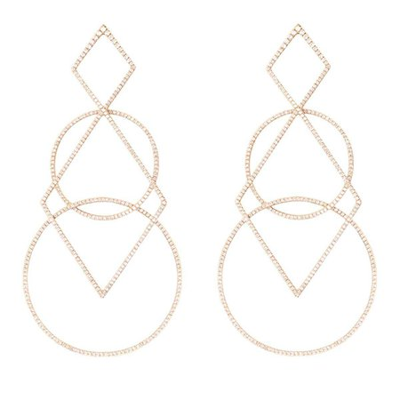 geometric gold earrings