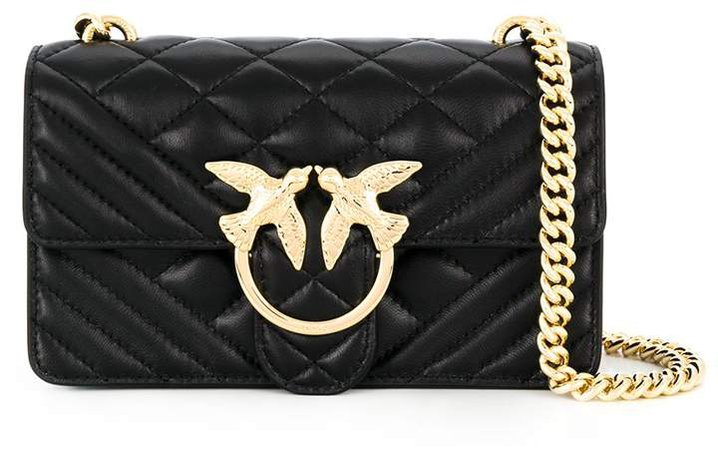 Love quilted shoulder bag
