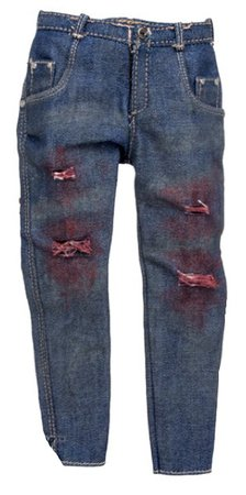 bloody jeans