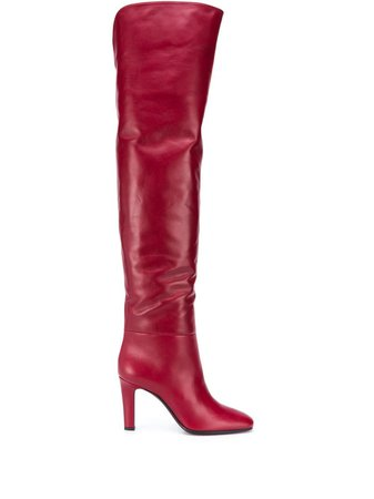 Saint Laurent Jane over-the-knee Boots - Farfetch