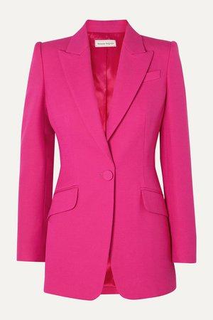 Pink Wool-blend blazer | Alexander McQueen | NET-A-PORTER