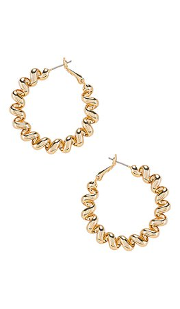 Ettika Spiral Hoop Earring in Gold | REVOLVE