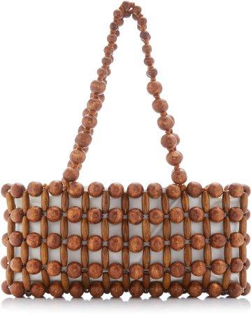 Cora Beaded Bamboo Shoulder Bag
