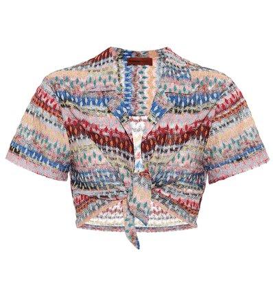 Missoni Mare - Striped crochet crop top   Mytheresa