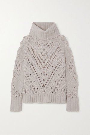 Ivory Ernestine cable-knit turtleneck sweater   Altuzarra   NET-A-PORTER