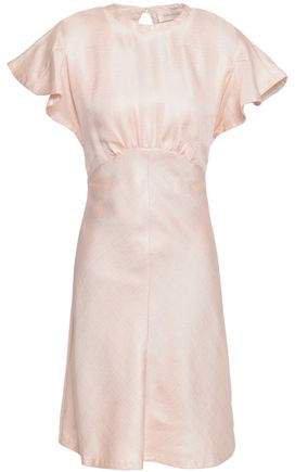 Open-back Satin-twill Mini Dress