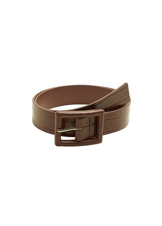 Violeta BY MANGO Crocodile effect belt