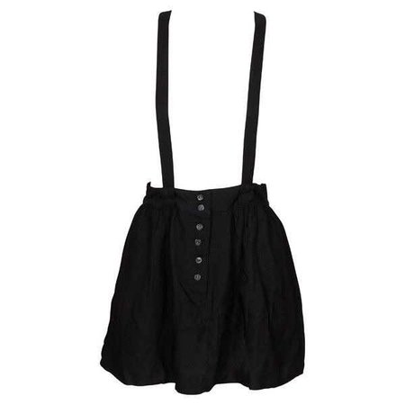 Something Else Suspender Skirt Black ($90)