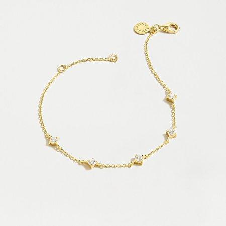 J.Crew: Demi-fine 14k Gold-plated Sparkle Chain Bracelet