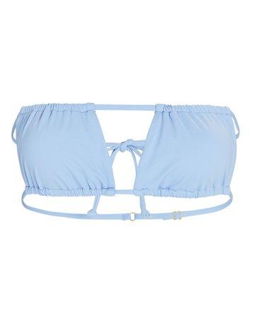 WeWoreWhat Ruched Bandeau Bikini Top | INTERMIX®