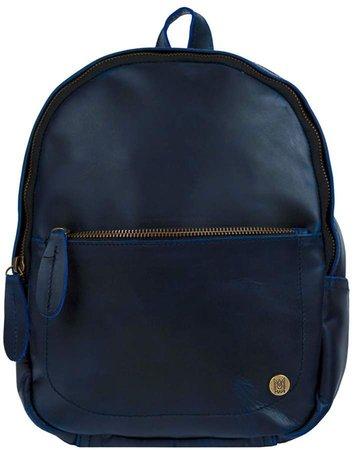 MAHI Leather - Mini Backpack In Navy Full Grain Leather