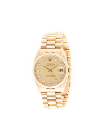 Rolex Oyster Perpetual Datejust Watch Vintage | Farfetch.com