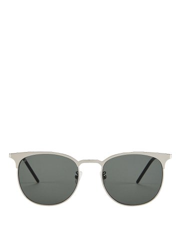 Saint Laurent | Wire Rounded Sunglasses | INTERMIX®