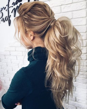 HIgh curl ponytail