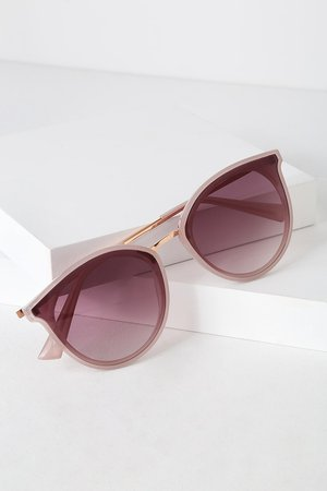 Cute Lavender Sunglasses - Round Sunglasses - Sunglasses - Lulus