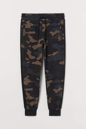 Joggers with Side Stripes - Beige