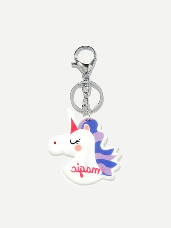 Unicorn Shaped Keychain