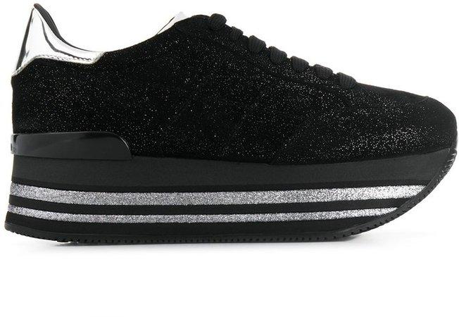 Glittered Flatform Sneakers
