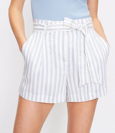 The Petite Paperbag Pull On Short in Stripe