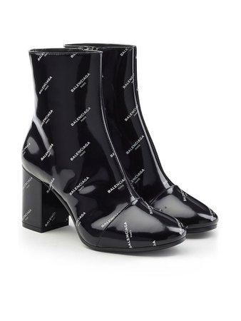 Black balenciaga boots