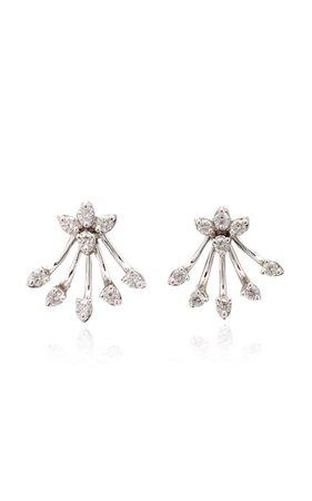 Exclusive 18k White Gold And Diamond Earrings By Hueb | Moda Operandi