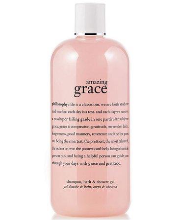 philosophy amazing grace 3-in-1 shampoo, shower gel and bubble bath, 16 oz