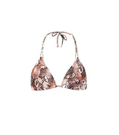 Cancun Snake-Print Bikini Top | Melissa Odabash