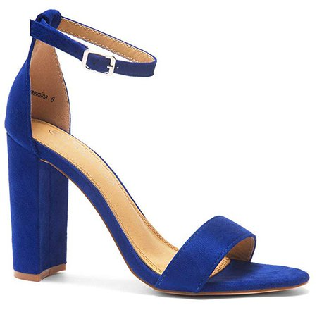 Amazon.com | Herstyle Rosemmina Womens Open Toe Ankle Strap Chunky Block High Heel Dress Party Pump Sandals | Heeled Sandals