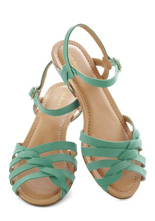 Turquoise Flat Sandals