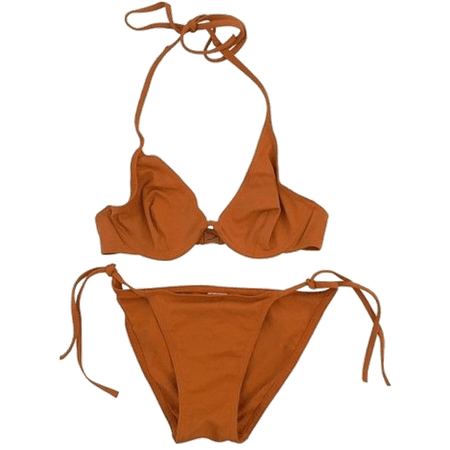 rusty orange bikini