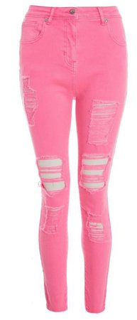 pink jeans denim